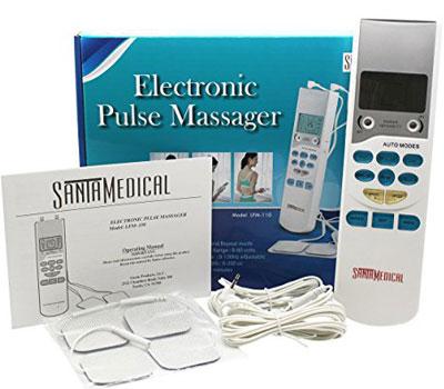 avis de secours intelligents et chauds &quot;width =&quot; 400 &quot;height =&quot; 350 &quot;/&gt; </a> </p> <p> Le massager d&#39;électronique de dizaines de Santamedical comporte des commandes de micro-ordinateur donc vous pouvez facilement ajuster le massager avec six programmes automatiques disponibles et trois différents styles de modes. </p> <p> Il est réglable en vitesse et en intensité. C&#39;est la meilleure unité pour le stress, la douleur musculaire, la raideur ou la douleur chronique. Thistens commentaires machine montre que c&#39;est le plus simple Tens Pulse Massager avec la technologie la plus avancée. Il a LCD montre le style de massage, l&#39;intensité et le temps restant. </p> <p> Il prend soin des muscles, bannissant en douceur les douleurs et la raideur. Nous pouvons utiliser un canal pour une petite région ou les deux canaux en même temps pour un traitement étendu. </p> <div class=